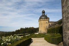 Castillo Hautefort Dordoña Francia del jardín Fotos de archivo libres de regalías