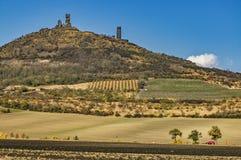 Castillo Hazmburk en otoño Foto de archivo
