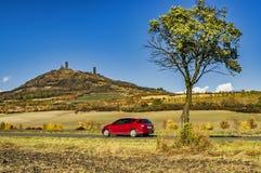 Castillo Hazmburk en otoño Imagen de archivo libre de regalías