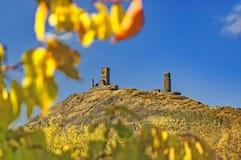 Castillo Hazmburk en otoño Fotografía de archivo libre de regalías