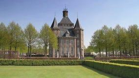 Castillo Heemstede en los Países Bajos almacen de video