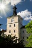 Castillo hermoso Breznice i la República Checa Imagen de archivo libre de regalías