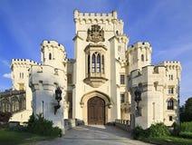 Castillo hermoso de Hluboka fotos de archivo libres de regalías