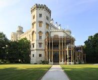 Castillo hermoso de Hluboka Imágenes de archivo libres de regalías