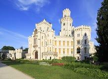 Castillo hermoso de Hluboka en República Checa fotografía de archivo libre de regalías