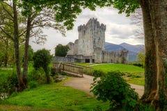 Castillo hermoso de Ross en Irlanda Fotos de archivo
