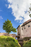 Castillo hermoso de Wartburg en Eisenach, Alemania Puentes de madera detalles Foto de archivo libre de regalías