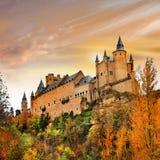 Castillo hermoso del Alcazar Imagenes de archivo