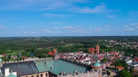 Castillo hermoso en Golub-Dobrzyn almacen de metraje de vídeo