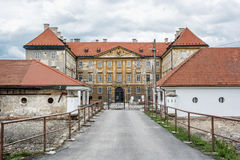 Castillo hermoso en Holic, Eslovaquia, patrimonio cultural Fotos de archivo libres de regalías