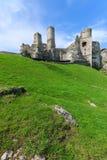 Castillo hermoso en Ogrodzieniec cerca de Kraków en la primavera, Polonia Fotos de archivo libres de regalías