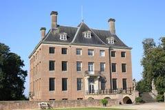 Castillo histórico Amerongen, los Países Bajos Foto de archivo libre de regalías