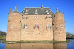 Castillo histórico Ammersoyen, los Países Bajos Fotografía de archivo libre de regalías