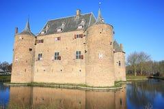 Castillo histórico Ammersoyen, los Países Bajos Imagen de archivo libre de regalías