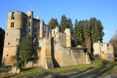 Castillo histórico Beaufort en Luxemburgo Foto de archivo libre de regalías