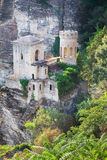Castillo histórico de la cumbre en Erice, Sicilia Fotografía de archivo libre de regalías