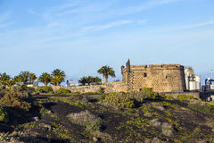 Castillo histórico de San Jose em Arrecife, Lanzarote fotografia de stock royalty free
