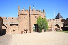 Castillo histórico Doornenburg en Güeldres, los Países Bajos Foto de archivo libre de regalías