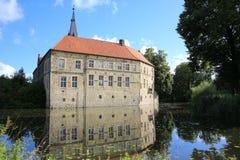 Castillo histórico Ludinghausen en Westfalia, Alemania Imagen de archivo libre de regalías