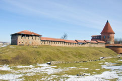Castillo medieval de Kaunas en Lituania imagen de archivo