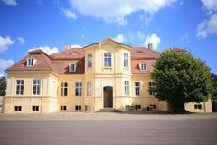 Castillo histórico Reckahn en Brandeburgo, Alemania Imagen de archivo libre de regalías