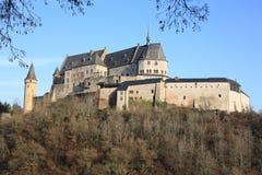 Castillo histórico Vianden en Luxemburgo Imagenes de archivo