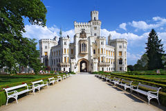 Castillo Hluboka nad Vltavou Imagen de archivo libre de regalías