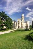 Castillo Hluboka nad Vltavou Imágenes de archivo libres de regalías