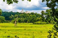Castillo-Hluboka nad Vltavou, República Checa de Hluboka Fotos de archivo