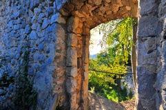 Castillo Hohen Gundelfingen imagenes de archivo
