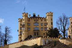 Castillo Hohenschwangau en Baviera foto de archivo
