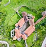Castillo, Hunyadi o Hunedoara de Corvin en Rumania imágenes de archivo libres de regalías