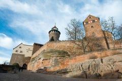 Castillo imperial de Nuremberg imagenes de archivo