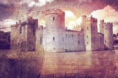 Castillo Inglaterra de Bodiam stock de ilustración
