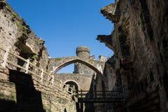 Castillo interior de Conwy foto de archivo