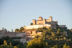 Castillo Italia de Spoleto Fotografía de archivo libre de regalías