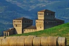 Castillo Italia de Torrechiara Imagen de archivo libre de regalías