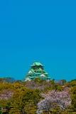 Castillo Japón de Osaka Foto de archivo libre de regalías