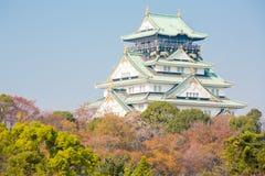 Castillo Japón de Osaka Foto de archivo