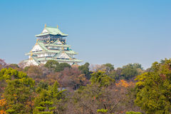 Castillo Japón de Osaka Fotos de archivo