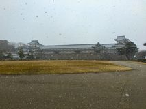 Castillo japonés de Kanazawa en Ishikawa Japón fotografía de archivo