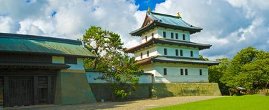 Castillo japonés, Matsumae, Hokkaido Foto de archivo libre de regalías