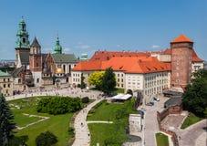 Castillo Kraków de Wawel Fotografía de archivo libre de regalías