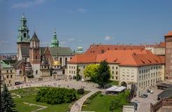 Castillo Kraków de Wawel Imágenes de archivo libres de regalías