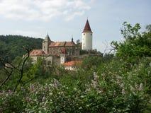 Castillo Krivoklat Imagen de archivo libre de regalías