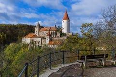Castillo Krivoklat en República Checa Fotografía de archivo libre de regalías