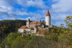 Castillo Krivoklat en República Checa Imagen de archivo libre de regalías