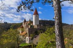 Castillo Krivoklat en República Checa fotos de archivo