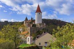 Castillo Krivoklat en República Checa foto de archivo libre de regalías