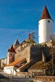 Castillo Krivoklat en República Checa. Fotos de archivo